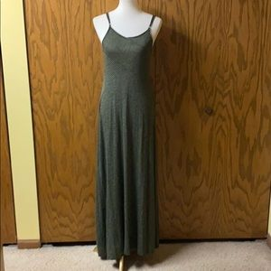 Target Black and Green Striped Maxi Dress